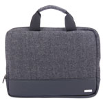"bugatti Matt Laptop Sleeve, 10"" x 1"" x 10"", Polyester, Black/Gray"