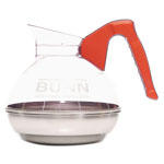 Bunn-O-Matic 12 Cup Coffee Carafe for Pour O Matic Bunn Coffee Makers, Orange Handle