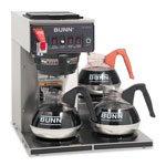 Bunn-O-Matic Commercially Rated Automatic Brewer, 12-Cups, 3-Burners, Stainless Steel