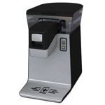 Bunn-O-Matic Com. Rated Pour-Over Single-Serve K-Cup Compatible Brewer, Black/Stainless Steel