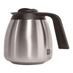 Bunn-O-Matic 1.9 Liter Thermal Carafe, Stainless Steel/Black
