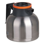 Bunn-O-Matic 1.9 Liter Thermal Carafe, Stainless Steel/ Black and Orange (Decaf)