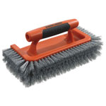 "Black & Decker All Around Brush, Plastic, 10"" Brush, 1"" Bristles, Orange/Gray, 3 Box"
