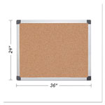 MasterVision™ Value Cork Bulletin Board with Aluminum Frame, 24 x 36, Natural