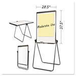 MasterVision™ Folds-to-a-Table Melamine Easel, 28 1/2 x 37 1/2, White, Steel/Laminate