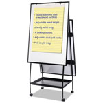 Bi-silque Visual Communication Product Inc Creation Station Magnetic Dry Erase Board, 29 1/2 x 74 7/8, Black Frame