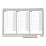 MasterVision™ Magnetic Dry Erase Calendar Board, 36 x 24, Silver Aluminum Frame