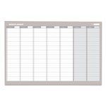 MasterVision™ Weekly Planner, 24x36, Aluminum Frame