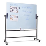 MasterVision™ Glass Revolving Easel, 47 1/4 x 35 1/2, Silver Frame