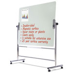 MasterVision™ Glass Revolving Easel, 59 x 47 1/2, Silver Frame
