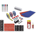 MasterVision™ Magnetic Board Accessory Kit, Blue/Red