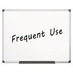 MasterVision™ Value Lacquered Steel Magnetic Dry Erase Board, 48 x 72, White, Aluminum Frame