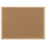 MasterVision™ Value Cork Bulletin Board with Oak Frame, 24 x 36, Natural