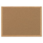 MasterVision™ Value Cork Bulletin Board with Oak Frame, 36 x 48, Natural