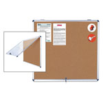 MasterVision™ Slim-Line Enclosed Cork Bulletin Board, 47 x 38, Aluminum Case