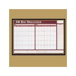 Visual Organizers Visu Board 60 Day Planner with 4 Markers, 32wx21 1/2h, Black Frame/Gold Trim