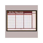 Visual Organizers Visu Board 90 Day Planner with 4 Markers, 32w x 21 1/2h, Black Frame/Gold Trim