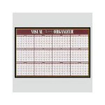 Visual Organizers Visu Board 12 Month Planner with 4 Markers, 32wx21 1/2h Black Frame/Gold Trim