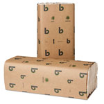 Boardwalk Green Folded Paper Towels, C-Fold, Natural White, 10 1/8W x 13L, 2400/Carton