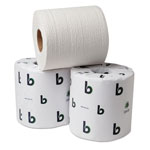Boardwalk Green Bulk Bathroom Tissue, 2-Ply, White, 500 Sheets/Roll, 96 Rolls/Case