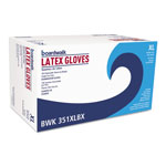 Boardwalk Powder-Free Latex Exam Gloves, X-Large, Natural, 4 4/5 mil, 100/Box