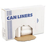 Boardwalk High-Density Can Liners, 43 x 47, 56gal, 14 Mic, Natural, 25 Bags/RL, 8 Rolls/CT