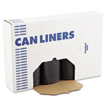 Boardwalk SH-Grade Can Liners, 40 x 46, 40-45gal, 1.2mil, Black, 10 Bags/Roll, 10 Rolls/CT