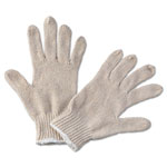 Boardwalk String Knit General Purpose Gloves, Large, Natural, 12 Pairs
