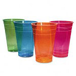 Boardwalk 16 Oz Cold Plastic Cups, Assorted Colors, Pack of 840