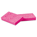 "Boardwalk Small Pink Cellulose Sponge, 3 3/5 x 6 1/2"", 9/10"" Thick, Pink, 48/Carton"