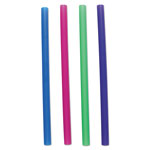 "Boardwalk Unwrapped Colossal Straws, 8 1/2"", Blue, Green, Pink, Purple, 4000/Carton"