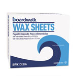"Boardwalk Interfold-Sheet Deli Paper, 6"" x 10 3/4"", White, 500 Sheets/Box, 12 Box/Carton"