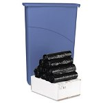 "Boardwalk Low Density Black Flat-Bottom Trash Bags, 44 Gallon, 45 Mil, 40"" X 46"", Carton of 250"