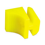 Boardwalk Silicone Door Stop, 3 x 1/4, Neon Yellow