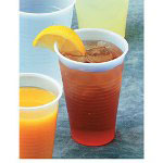 Boardwalk YLP-24C Plastic Flat Lids f/24 oz. Cups