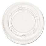 Boardwalk Clear Plastic Lid For 1.5-2.5 Oz Portion Cup, 24 Packs of 200