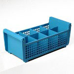 Carlisle Foodservice Products Blue OptiClean Flatware Basket without Handles