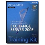 Microsoft MCSA/MCSE Self-Paced Training Kit (Exam 70-284) Implementing And Managing ExchanServer 2003 Self-training Course CD