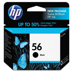 HP 56 Black Ink Cartridge ,Model C6656AN140/424 ,Page Yield 450