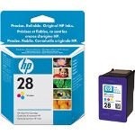 HP 28 Print Cartrid1 x Yellow, Cyan, Magenta 190 Pages