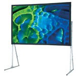 Draper Ultimate Portable Folding Screen With Standard Legs NTSC/PAL Video Format - Projection Screen With Legs - 180 In ( 457 Cm )