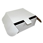 "Honeymoon Paper Corrugated Cake Box, 10 1/4""x10 1/4""x4"", White"