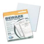 Boise Security Paper, Bus., UNAUTH. COPY, 8 1/2 x 11, Teal