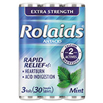 Chattem Rolaids Extra Strength Tablets f/Heartburn, Mint Flavor, 10/Pack