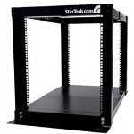 Startech 12U Adjustable 4 Post Open Frame Server Equipment Rack - Rack - 12U