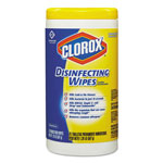 Clorox Bleach Free Disinfecting Wipes, Lemon Scent, 75 Wipes per Canister, 6/Ctn