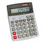 "Compucessory 02199 Desktop Calculator, Dual Power, 12 Digit, 5 4/5""x7 3/5""x2"""