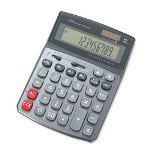 "Compucessory 02200 Calculator, 12 Digit, 5 4/5""x7 3/5""x2"""