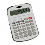 "Compucessory 02201 Calculator, Large Tilt Display, 12 Digit, 2 1/3""x3 4/5""x2/5"""