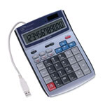 "Compucessory 22082 White 12 Digit LCD Calculator with PC Interface, 5 1/2"" x 7 1/2"" x 1 1/2"""